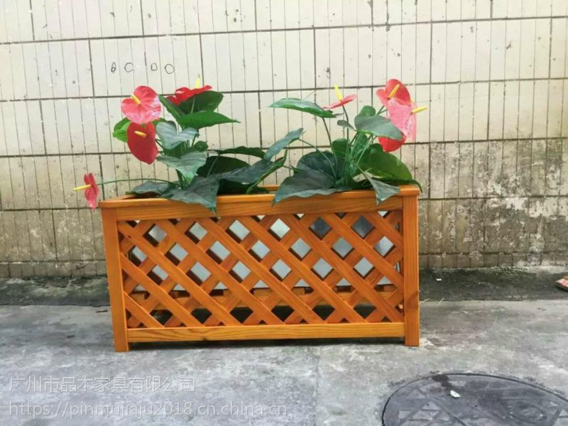 春季热销实木花箱:售楼部花箱:防腐木花箱