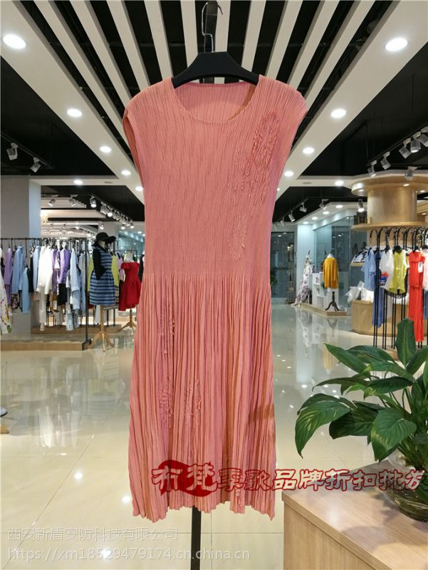 唯可连衣裙品牌女装尾货专柜正品