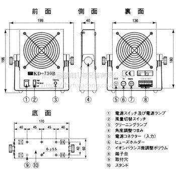 厂家直销日本kasuga春日电机离子风扇KD-730B