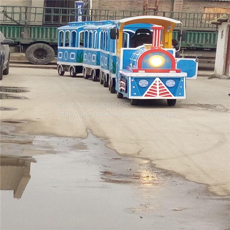格林游乐设备制造仿古无轨小火车