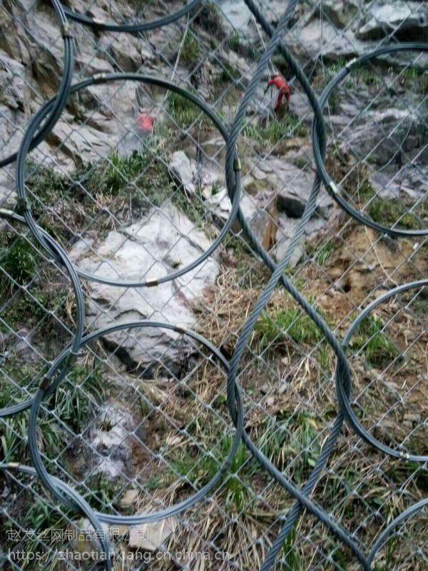 赵发山坡防碎石挂网.GPS1山体包山防护网.RXI-200被动网现货