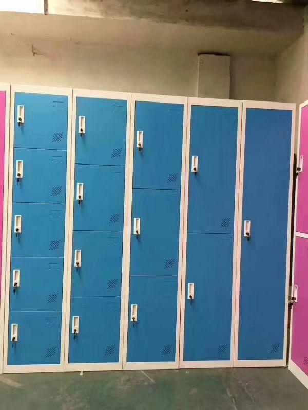 学生多格柜子 学校 彩色柜子 钢制 现代 重庆衣柜厂家直销