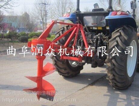 桔子树移植挖坑机 果树施肥打孔机 技术精湛的拖拉机挖坑机