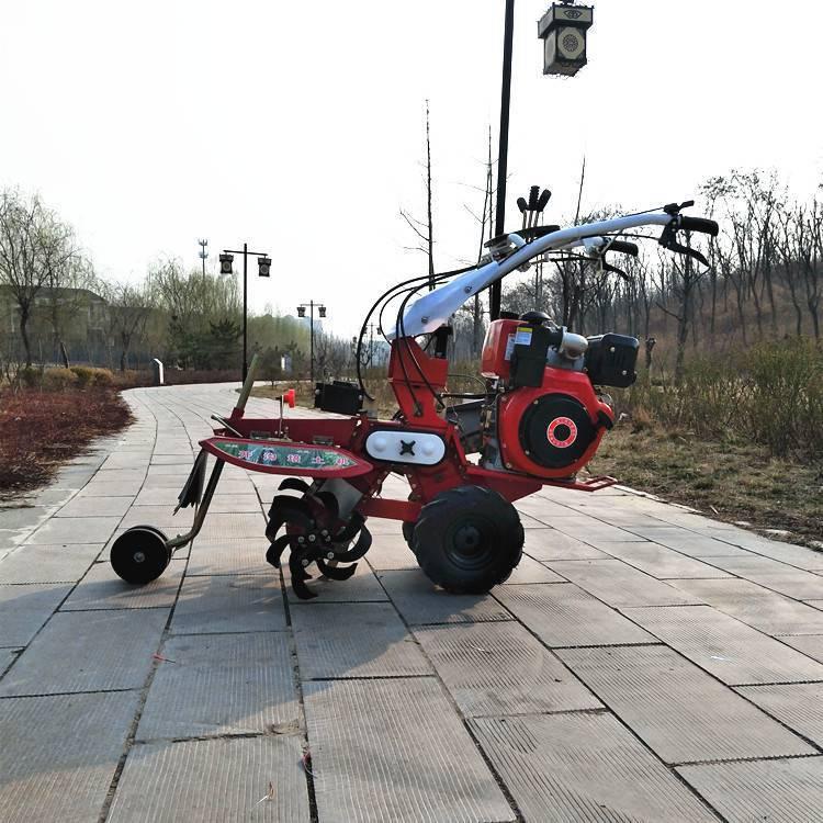 山东生产8马力柴油开沟机多功能田园松土机电启动茶园除草机志成