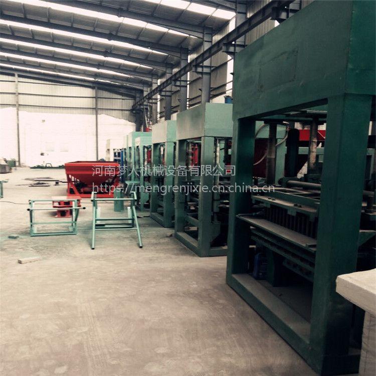 厂家直销多功能水泥砖生产线 梦人全自动免烧小型制砖机 水泥空心砖机