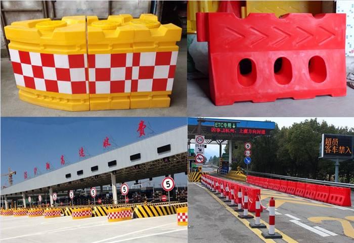 高速养护滚塑水马防撞栏 收费站船形防撞墩警示隔离墩生产厂家