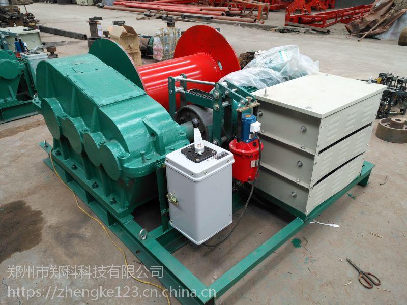 乐陵郑科10吨新型慢速液压制动起重牵拉卷扬机安全稳定