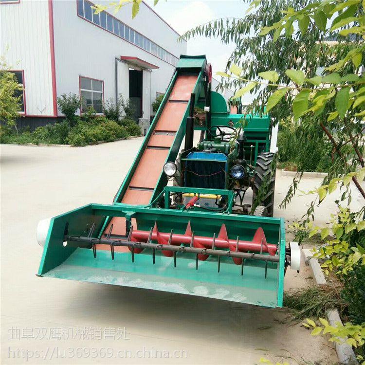 来宾双鹰四轮拖拉机带玉米脱粒机大型自走式玉米脱粒机售价