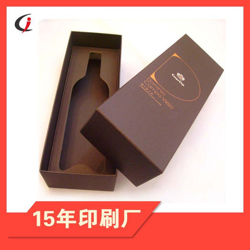 深圳公明红酒盒包装印刷定制 葡萄酒盒设计印刷厂家定制