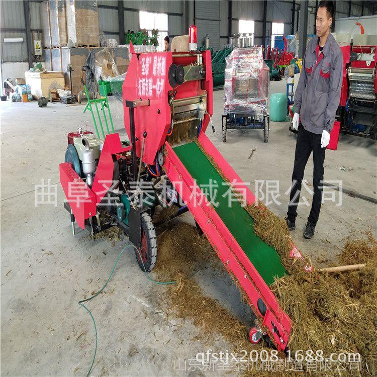 秸秆打捆机 全自动牧草打捆包膜机 甘肃稻麦秸秆打捆机
