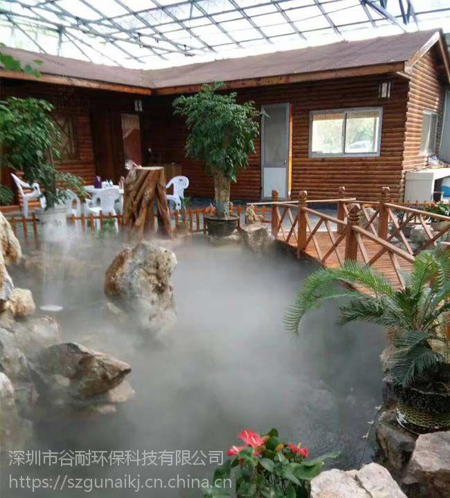 湖泊园林景观喷雾装置 雨雾加湿系统生产商 案例(安阳|焦作|商丘|开封|濮阳|周口|信阳)