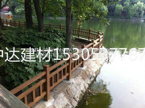 梁山厂家直销仿塑木公园护栏 仿腐护栏 仿石栏杆