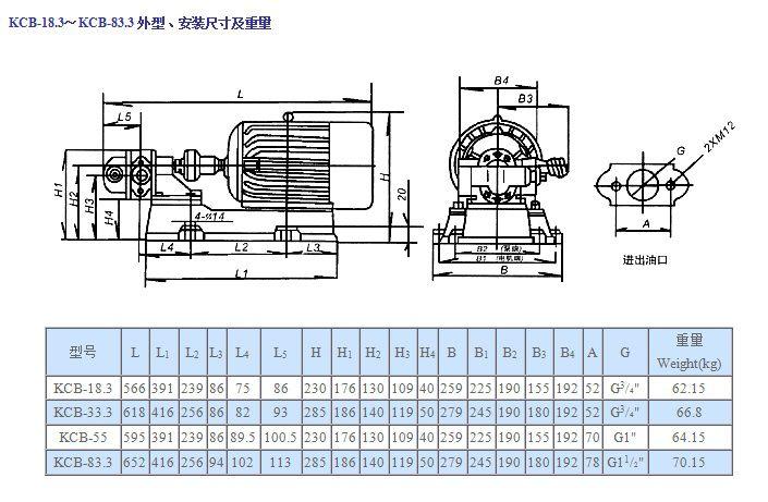齿轮油泵安装尺寸1