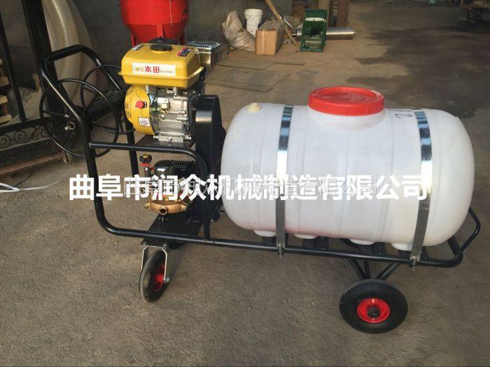 农田高压喷雾器 手推汽油打药机 大棚拉管打药机