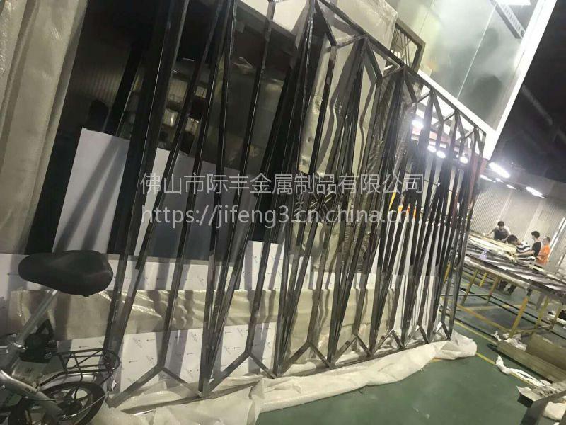 钛金不锈钢屏风,不锈钢花格,装饰金属隔断厂家