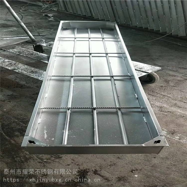 金裕 不锈钢304方形井盖 下沉排水式装饰井盖 隐形窨井盖 薄利多销