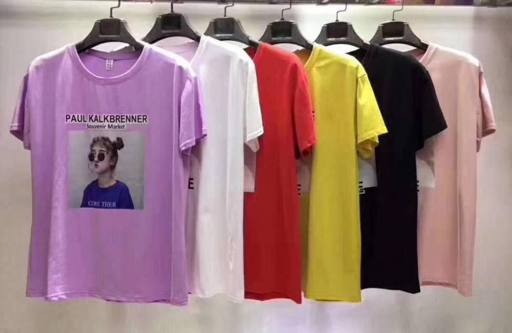 外贸尾货清仓 出口泰国大码男装品牌T恤库存处理短袖印花T恤 厂家批发
