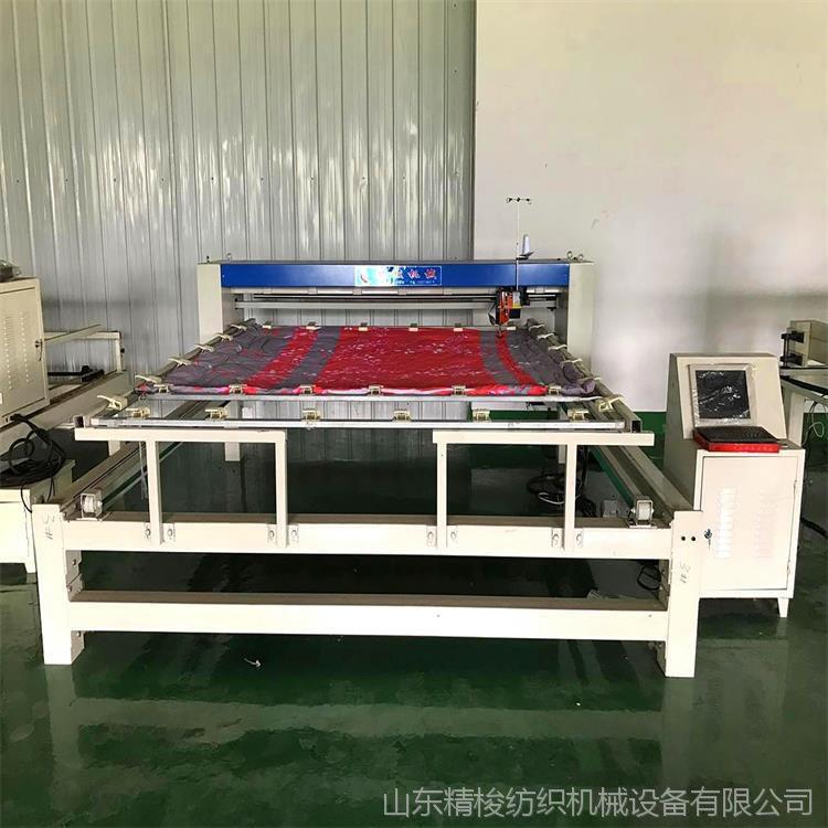 定制花型被子电脑绗缝机厂 专用电脑绗缝机图片 做花型绗被机价格