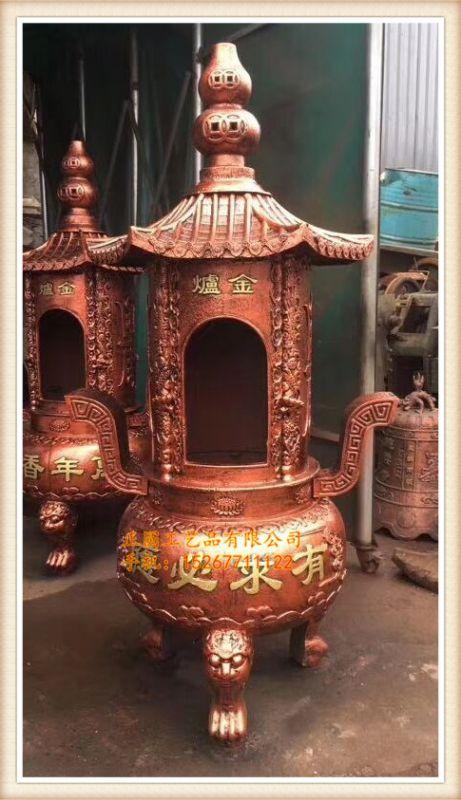 铸造宗祠圆形烧纸炉厂家 zy1001寺庙六角焚经炉生产厂家