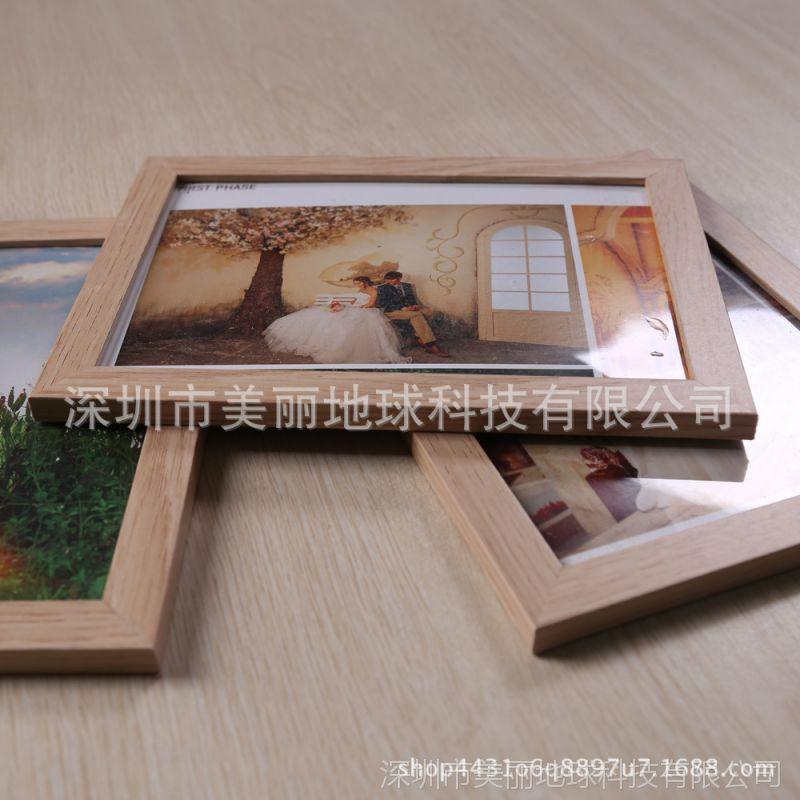 创意婚纱照相框高档欧式像框7寸木色相框照片框摆台影楼相框木纹