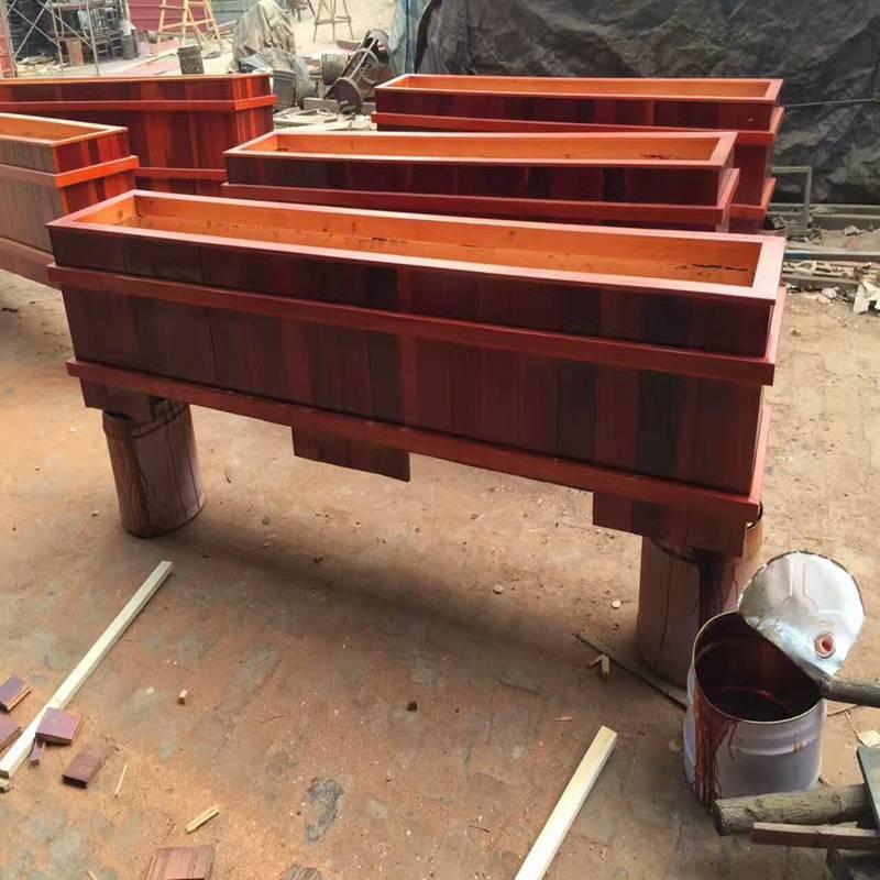 生产优质实木组合花箱规格型号,花箱生产制造厂家,厂价批发