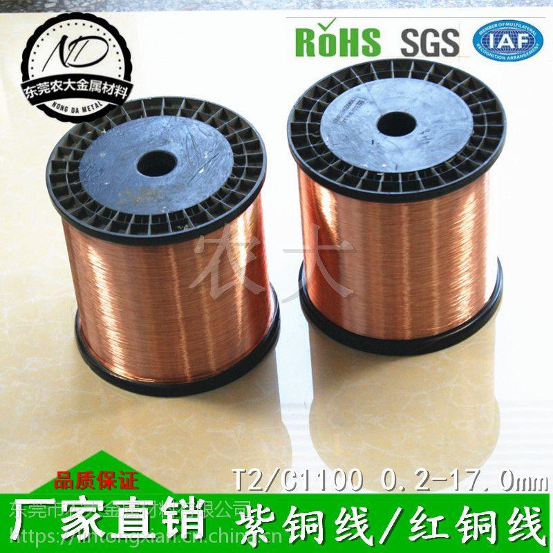 厂家批发 T2环保紫铜线 喇叭用紫铜线 材质优良