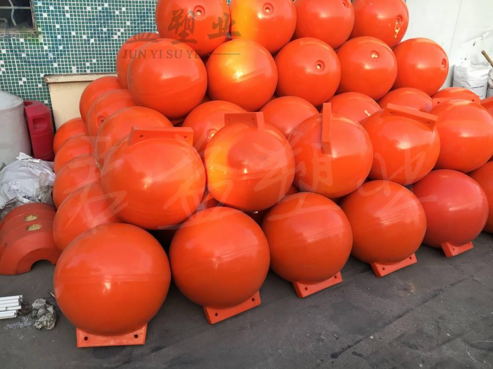 君益提供水库警示围栏浮体 直径400球形浮体