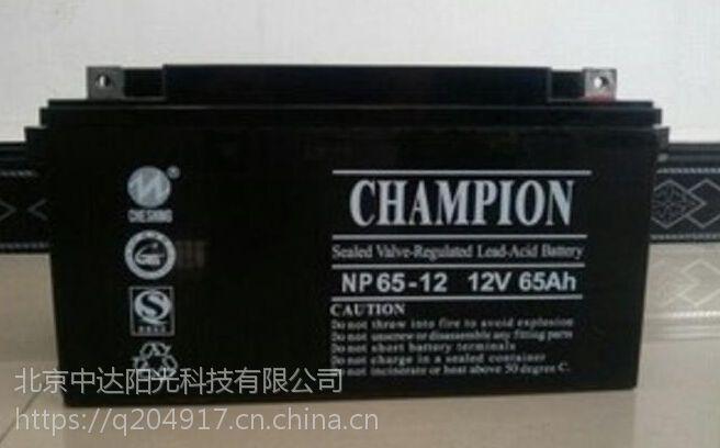 冠军蓄电池NP65-12 12V65ah直流屏UPS专用蓄电池全装正品