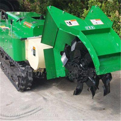 农用大马力开沟机 金佳小型履带车 除草回填一体机厂家直销