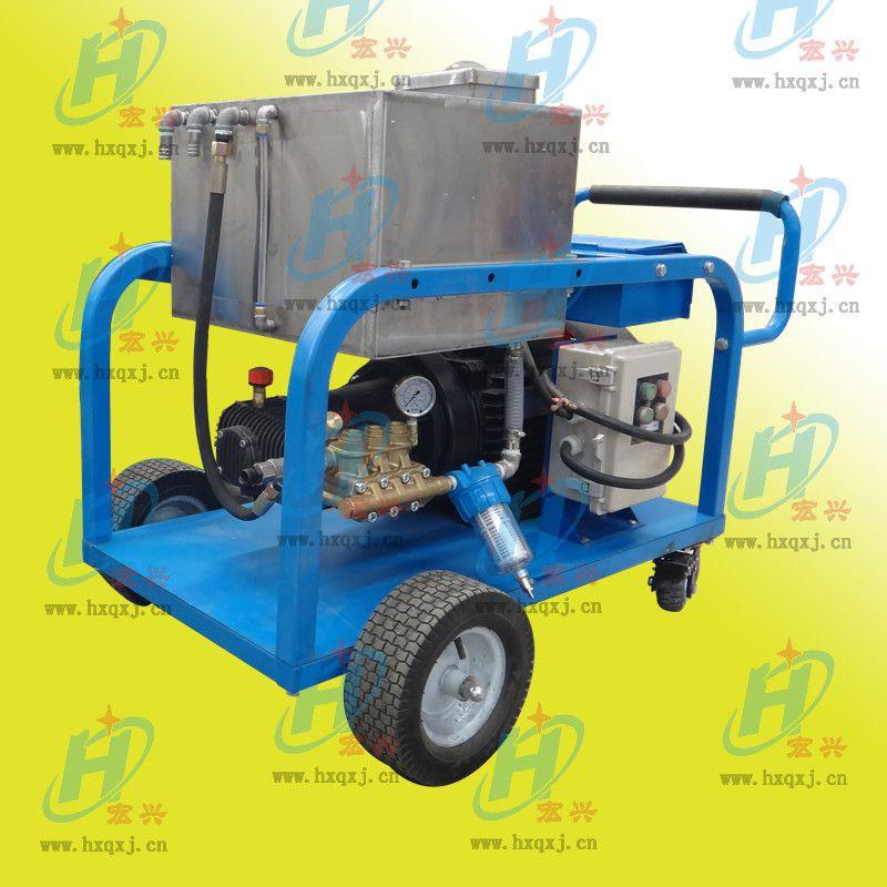 供应宏兴牌 黄铜镀镍泵头高压清洗机 500公斤超高压高压水枪清洗机
