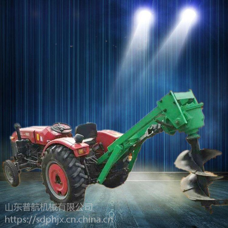 加厚材质拖拉机悬挂式挖坑机 电线杆打桩机 手提式汽油钻眼机价格