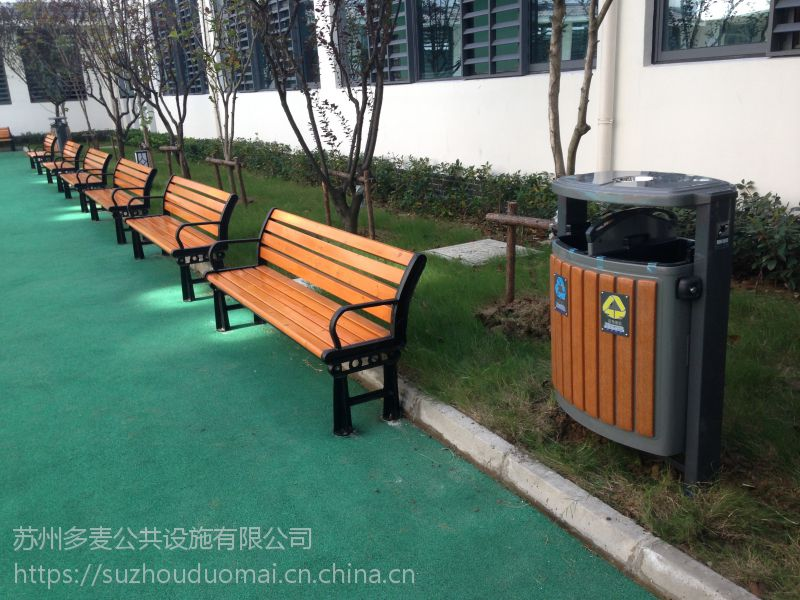 哈市实木公园椅厂家、哈市园林椅定制、景观长凳、户外休闲长凳定做