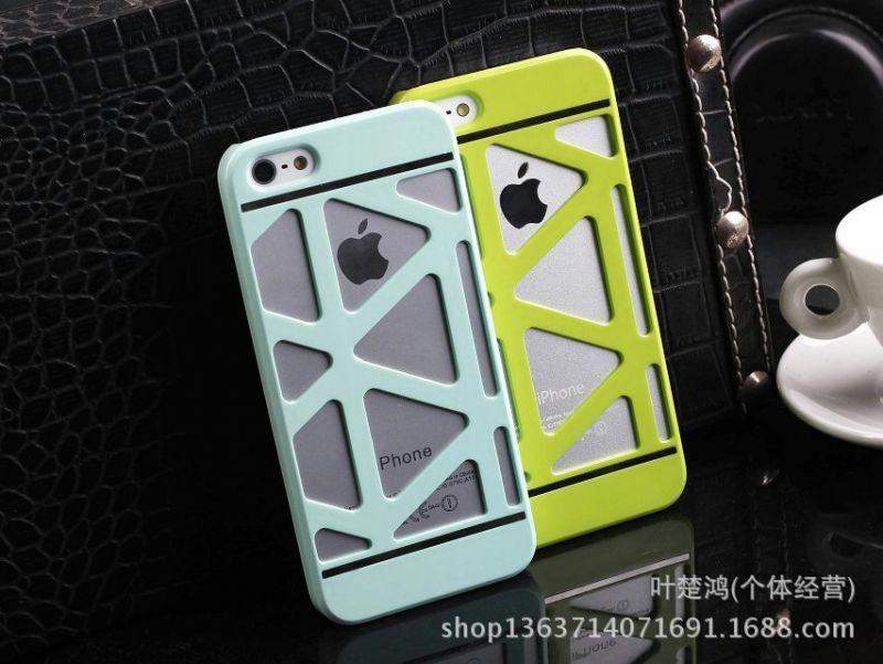 新款iphone5555s外壳镂空苹果保护套魅力4/4s手机壳个性香葱网壳冻干小超薄图片