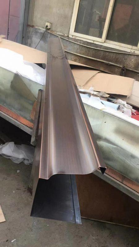 福州古铜色U型铝合金雨水槽屋檐接水槽