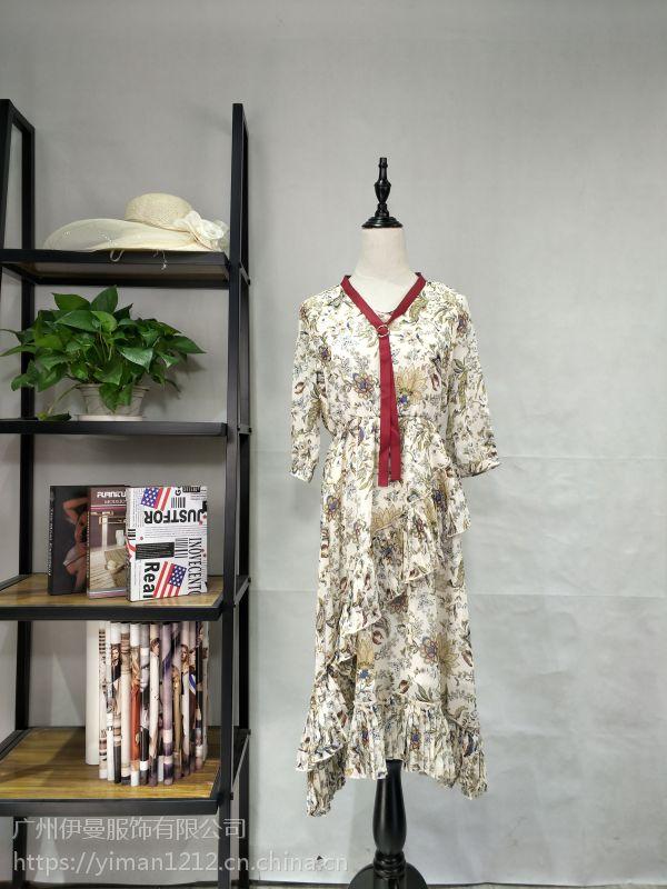 广州伊曼服饰品牌服装尾货批发市场,艾米拉品牌折扣女装