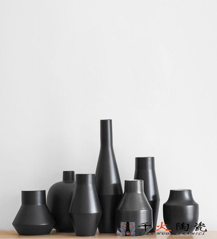礼品花瓶定制 手绘高档陶瓷摆件 花瓶厂家批发