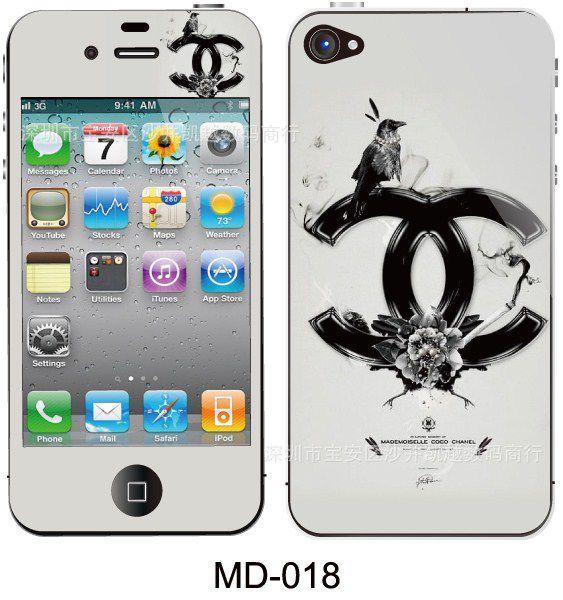 iphone5s塑料彩膜苹果贴手机5彩膜5代磨砂闪钻卡通图片卡通贴膜扣条苹果图片