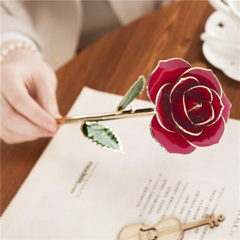 畅销款生日礼物镀金玫瑰花红色定制款黛雅镀金玫瑰厂家