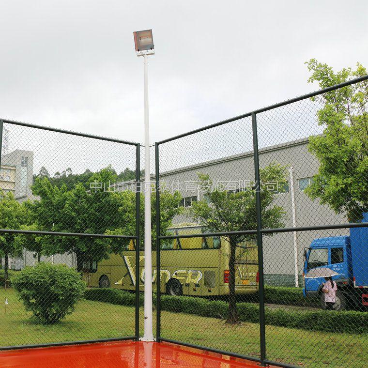吉安乡村篮球场灯具安装方法 LED灯具配置方法 柏克厂家灯柱直销