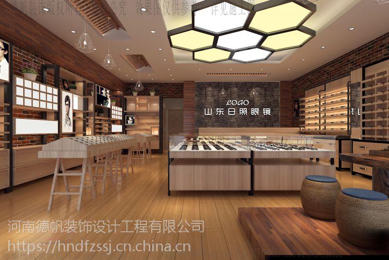 咸阳眼镜店装修设计常规快时尚眼镜展柜制作施工