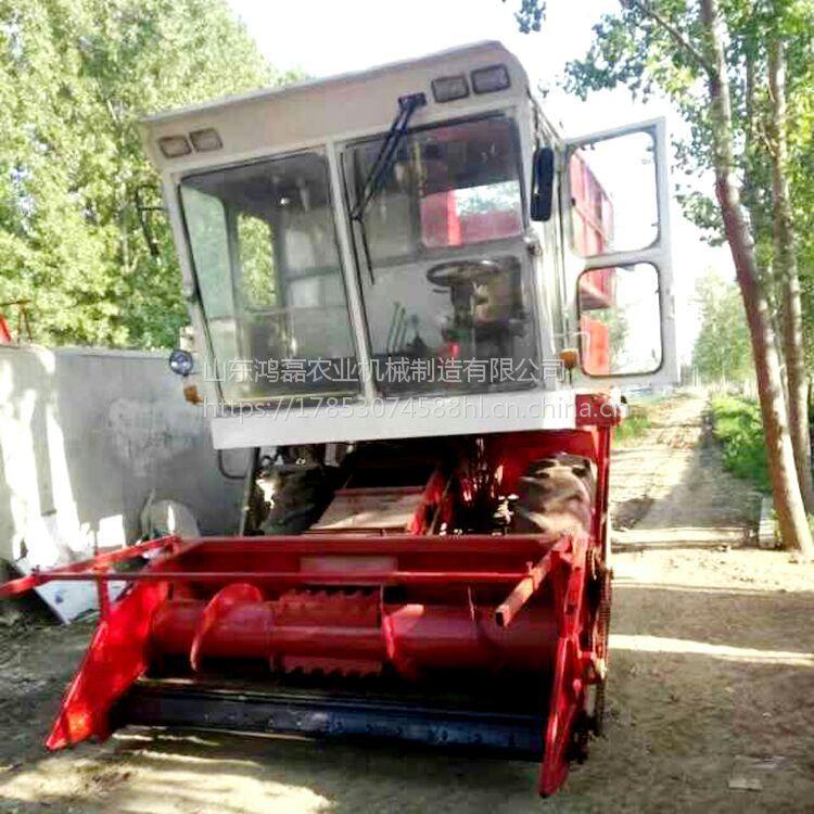 高效率玉米秸秆青储收割机 象牙草切碎铡草机 多功能干湿秸秆青储机厂家