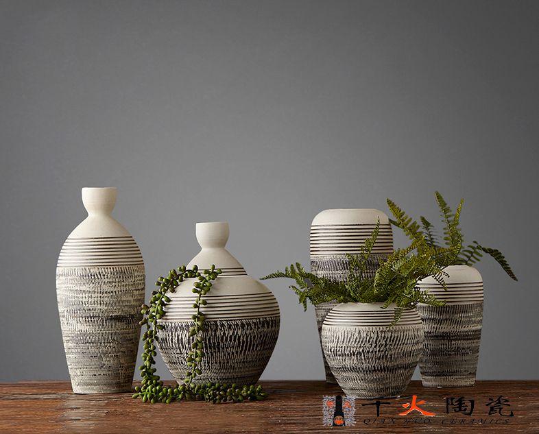 订制酒店餐厅摆件花瓶 定制高端商务礼品 陶瓷花瓶摆件厂家定制