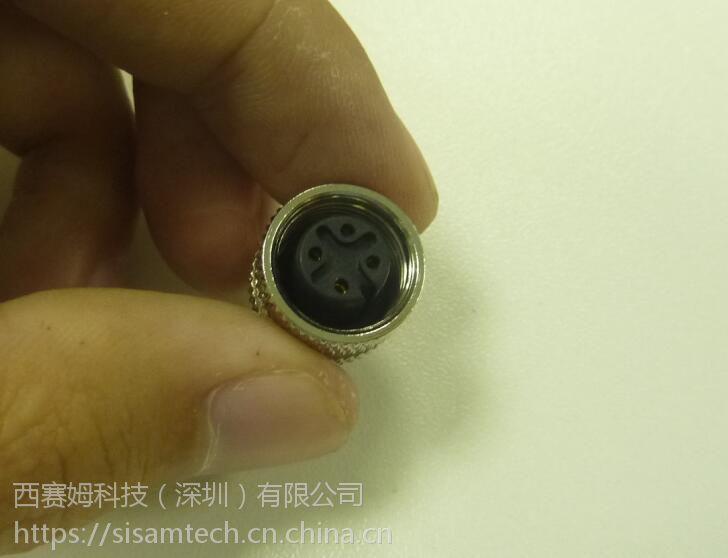 自动化现场布线连接器M12-4P5P8P12P防水接头