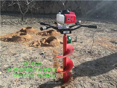 能在硬土质完成作业的手提式植树钻坑机