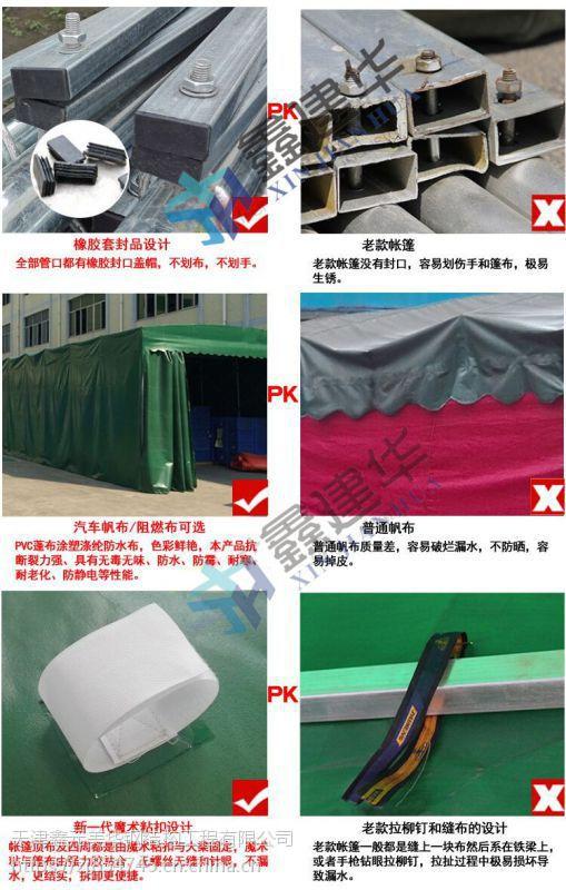 天津北辰公业园定制伸缩推拉雨棚 布 活动伸缩帐篷大型仓库物流棚