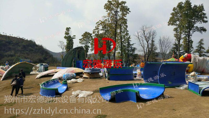 花果山漂流 大型户外冲浪戏水游乐设备海洋漂流8船16人郑州宏德游乐热销