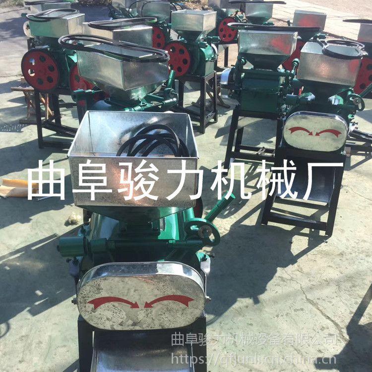 花生轧胚专用电动加工机械 花生米破碎机 骏力 多功能电动对辊磕瓣机