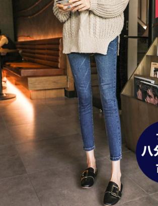 便宜女装牛仔裤夏季短袖韩版时尚女装裤子1-6元服装女士小脚裤批发九分裤