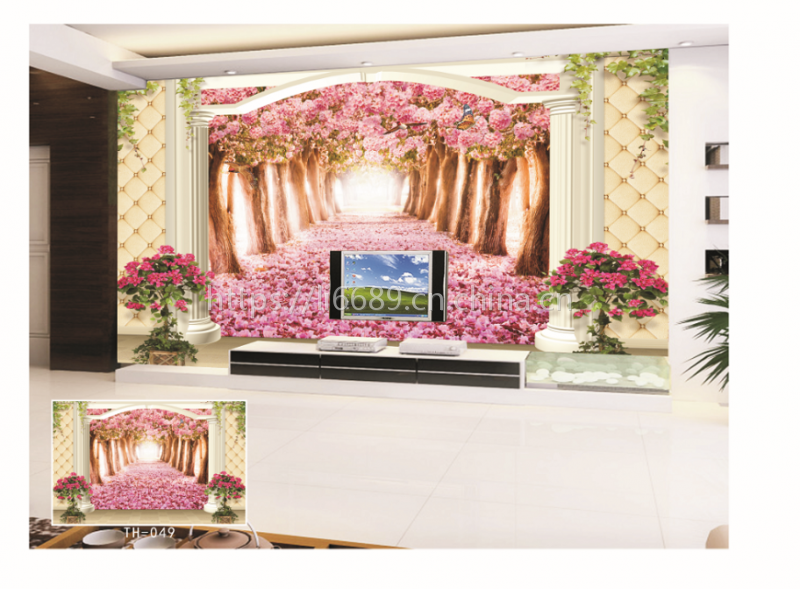 3D电视背景墙 大型壁画客厅沙发无纺布墙纸 欧式简约时尚墙布定制