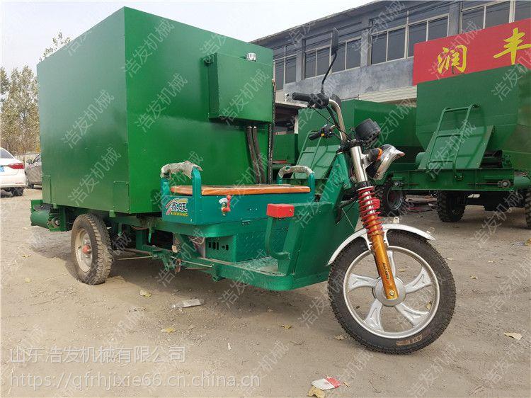 吉林大型养殖区牛羊青贮撒料车 自动化饲草喂料车